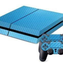 PlayStation 4 Vinyl Skin Blue Carbon