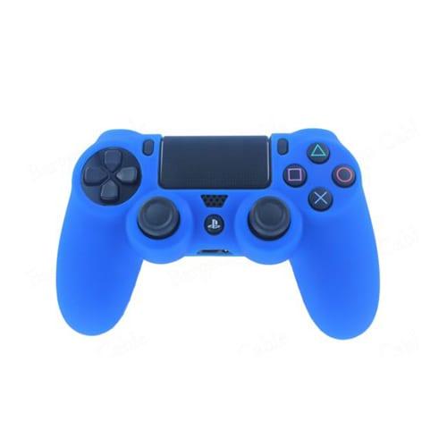 Blue Rubber Controller Skin PlayStation 4