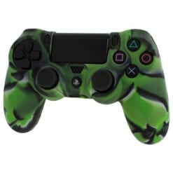 Green Camouflage Rubber Controller Skin PlayStation 4