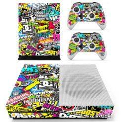 Xbox One S Vinyl Skin Graffiti Bomb