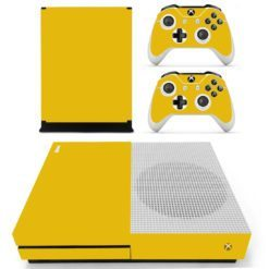 Xbox One S Vinyl Skin Army Yellow