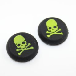 Silicone Gel Controller Yellow Skull Thumb Grips