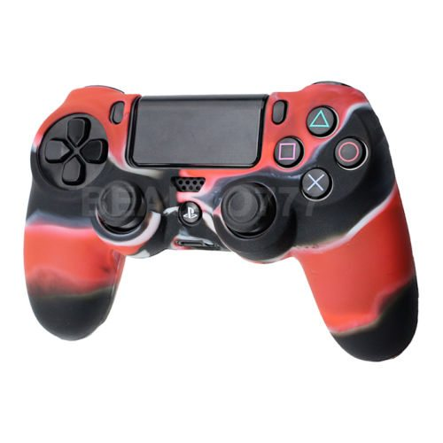 PlayStation 4 Controller Silicone Cover Red Camo