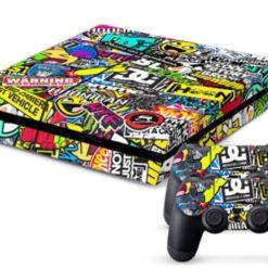 PlayStation 4 Vinyl Skin Bombing Graffiti