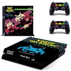 PlayStation 4 Vinyl Skin Space Invaders
