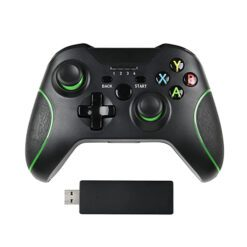 2.4G wireless controller game pad for Xbox one PC with box black
