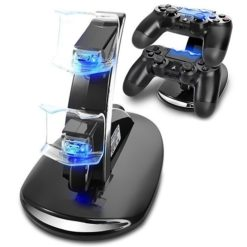 Dual USB LED Controller Charger for PlayStation 4