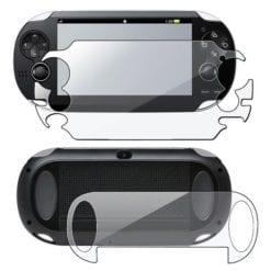 PS Vita 1000 LCD Clear Screen Protector Front and Back Cover Protector