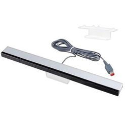 Remote Wired Infrared Ray Sensor Bar for Nintendo Wii + Wii U Console With Stand