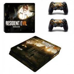Resident Evil Biohazard Skin Vinyl Sticker for the PlayStation 4 Slim Console PS4