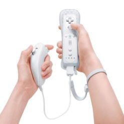 Wii Remote Controller and Nunchuck white