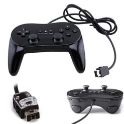 Wired Pro Controller for Nintendo Wii black