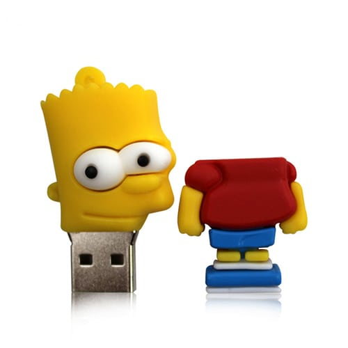 Bart simpson USB memory stick open