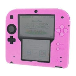 2DS Silicone protective cover pink