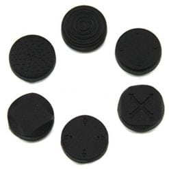 6 x Silicone Thumb Stick Cover Grip Caps For PS Vita 1000 2000 Analog Controller Black