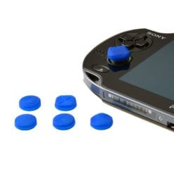 6 x Silicone Thumb Stick Cover Grip Caps For PS Vita 1000 2000 Analog Controller Blue 1