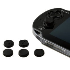 6 x Silicone Thumb Stick Cover Grip Caps For PS Vita 1000 2000 Analog Controller black 1