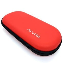 PS Vita Hard Protective Zip Case Red