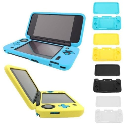 Silicone Rubber Gel Console Protective Skin Soft Case Cover Nintendo New 2DS XL Colours