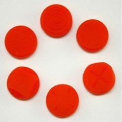 Silicone Thumb Stick Grips - Red (Pack of 6)
