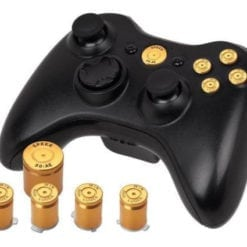Xbox 360 Wireless Controller Gold Alloy Button Custom Buttons Set Kit ABXY Guide