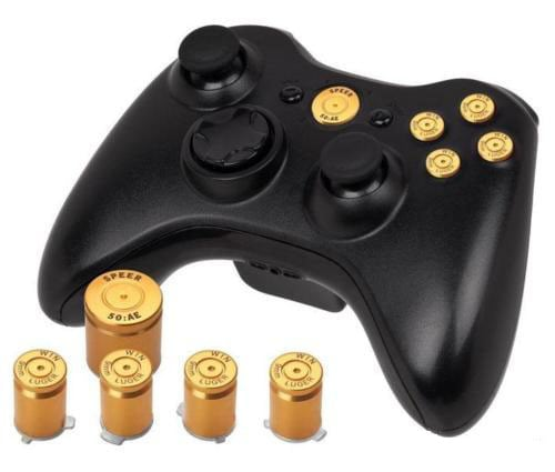 Custom Bullet Set for Xbox 360 Wireless Controller - Gold ...