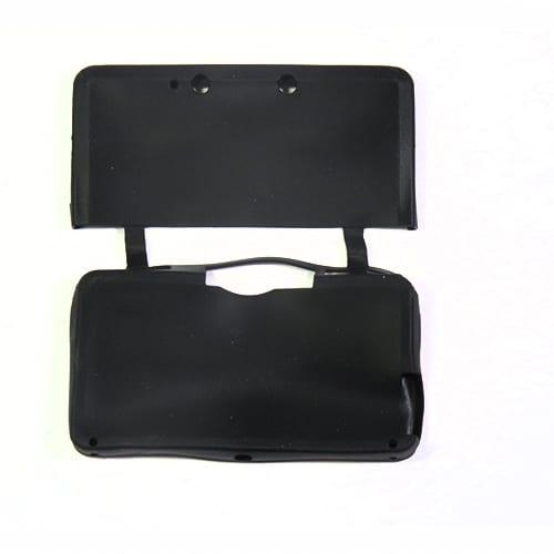 Nintendo 3DS Protective Silicone Rubber Case Black Rear