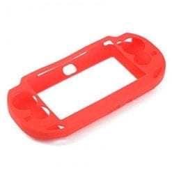 PS Vita 1000 Console Protective Silicone Soft Case Cover Red