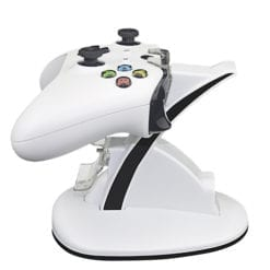Xbox One Controller Dual USB Docking Station Charging Charge Stand LED White 2
