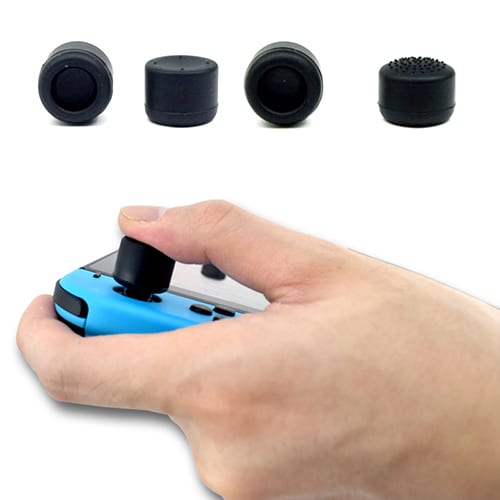 Nintendo Swtich Controller Anti-Slip Silicone Thumb Stick Extend Grips Caps x8 Black