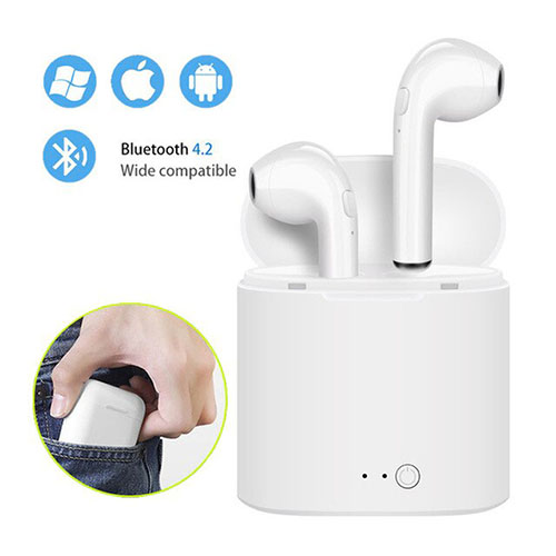 i7s TWS Mini Wireless Bluetooth Earphone Stereo Earbud Headset With Charging Box Mic For Iphone Xiaomi All Smart Phone 3