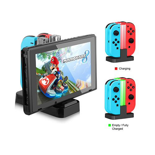 Nintendo Switch Joy-Con Pro Controller Charge Dock Charging LED Stand