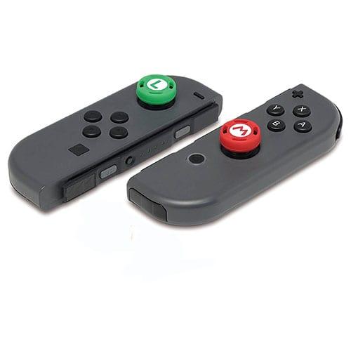 Nintendo Switch JoyCon Analog Stick Caps Mario Luigi