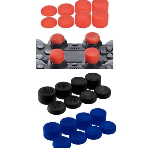 8 pcs Antislip Thumb Stick Grips Thumbsticks Joystick Cap Cover for PS4 PS3 Switch Pro Xbox one Xbox 360 Wii U PS2 Controller all colours