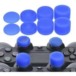 8 pcs Anti Slip Thumb Stick Grips Thumb sticks Joystick Cap Cover for PS4 PS3 Switch Pro Xbox one Xbox 360 Wii U PS2 Controller blue