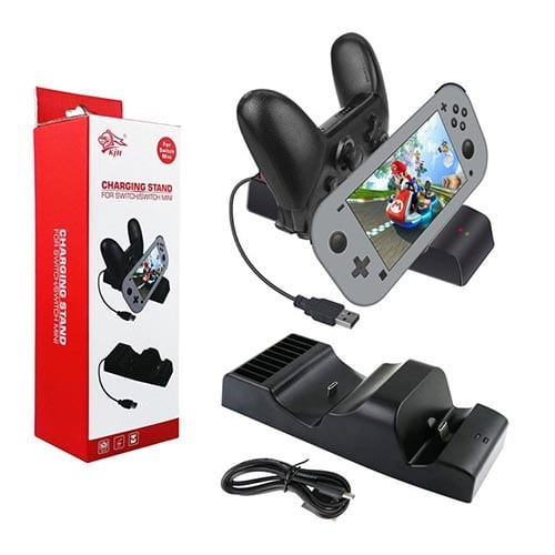 Switch Lite Seat Charging Host Charger NS PRO Handle Charging Base with Card Slot Design