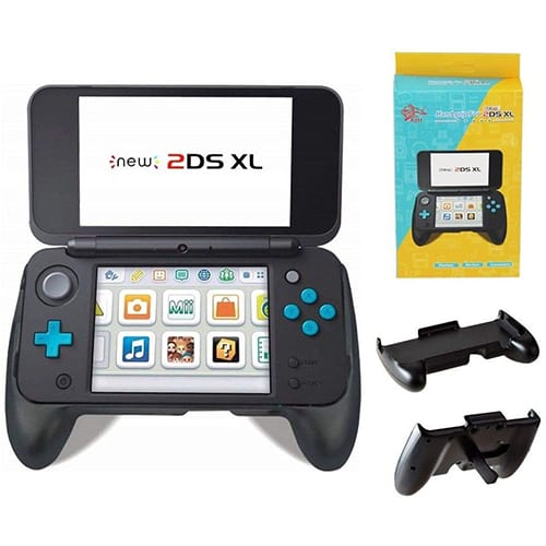 New Nintendo 2DS XL 2017 Handle Grip with Stand (Black)