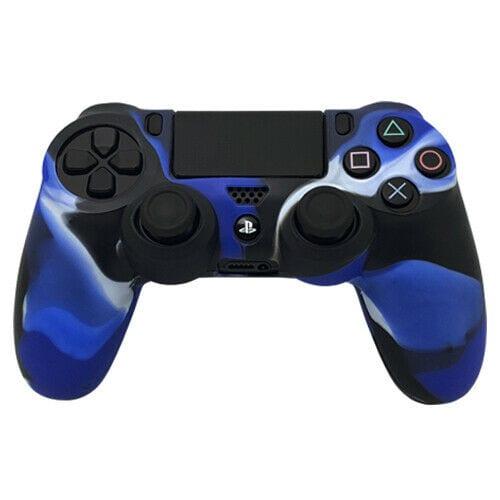 PlayStation 4 Controller Silicone Cover Blue Camo