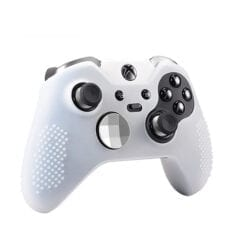 Soft Silicone Rubber Protective Case Cover for Microsoft Xbox One Elite Controller White